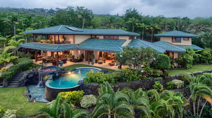 tropical home surrounded by the rain forest